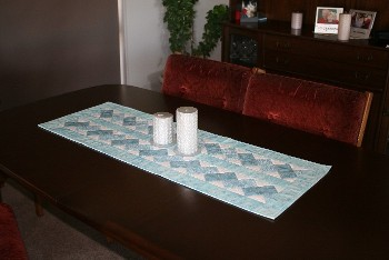 Table Runner Blue White